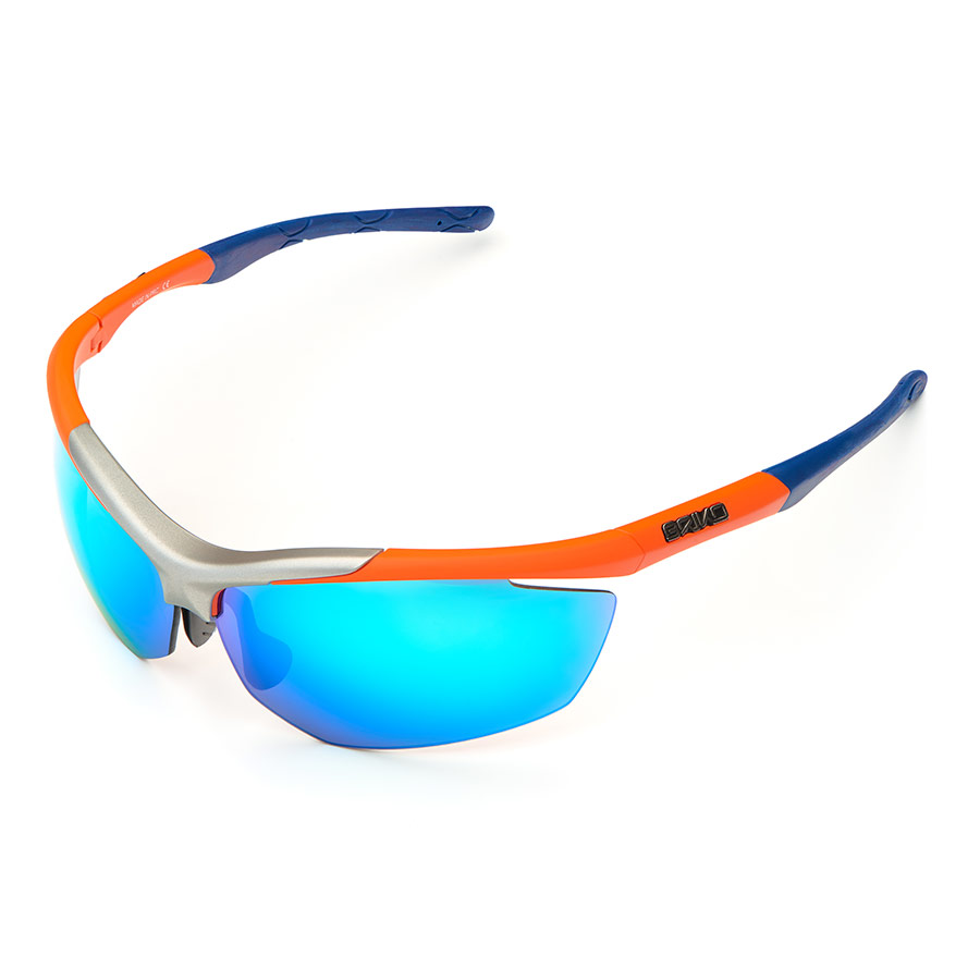 c9afdb3e54a Briko Trident 2 glasses dark blue orange with mirrored lenses blue ...