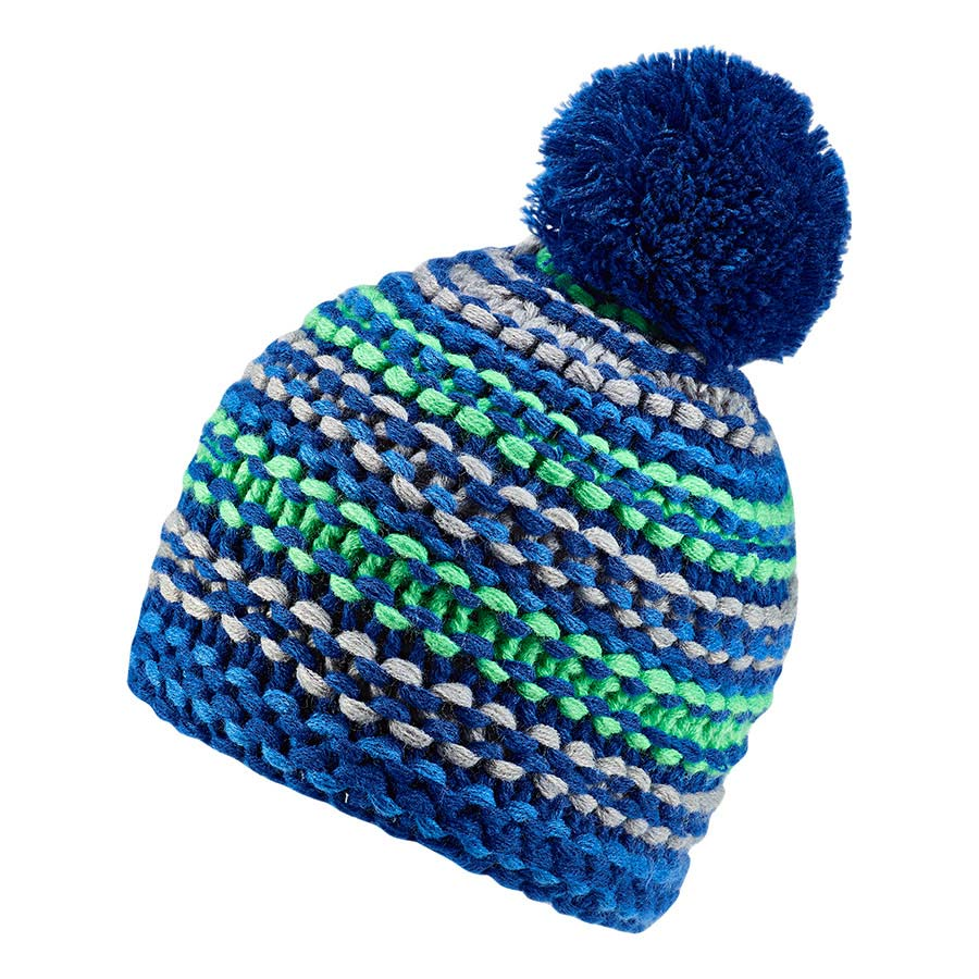 7b955945d56 adidas Neo Young Athletes Chunky Beanie Grey Blue Green Kids ...